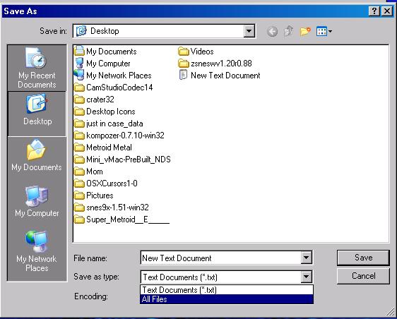 save as type screenshot