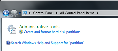 how to partition your hard drive in windows 7